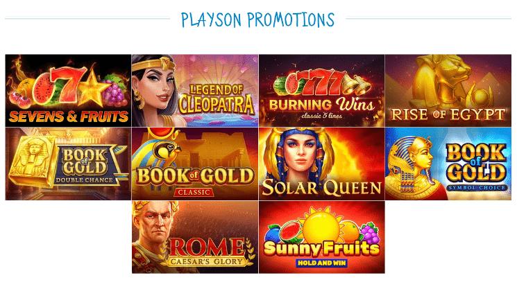 CasinoX:Playsonのプロモーション